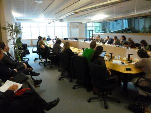 Participants at the Hearing in the European Parliament
